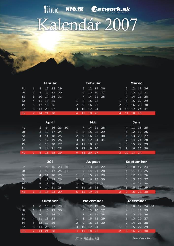 Kalendár 2007