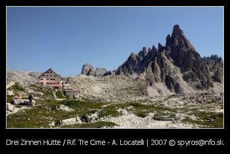 Drei Zinne Hutte (Rifugio Tre Cime - A. Locatelli, 2405 m.n.m.)