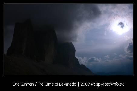 Drei Zinnen (Tre Cime di Lavaredo, 2999 m.n.m.)