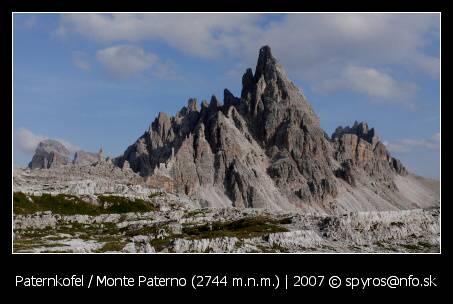 Paternkofel (Monte Paterno, 2744 m.n.m.)