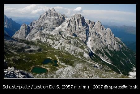 Schusterplatte / Lastron Dei Soarperi. (2957 m.n.m.)